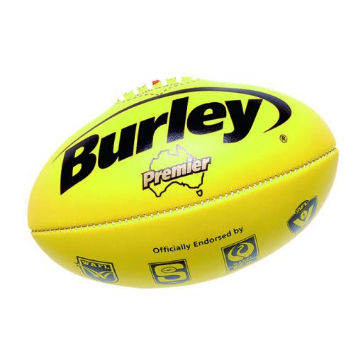 Burley Premier leather game ball yellow.jpg