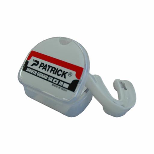 PATRICK MOUTHGUARD JNR/SNR CLEAR/WHITE