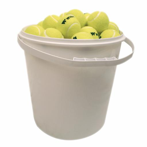 TRAINING 303 TENNIS BALL 72 BALLS IN BUCKET - YELLOW