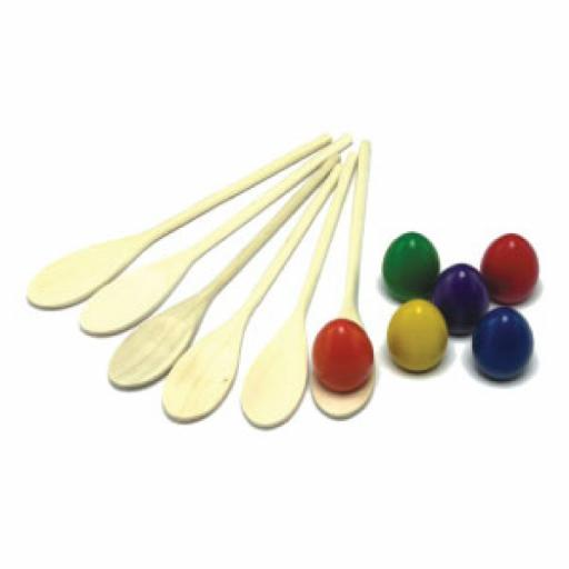 EGG AND SPOON SET(6)