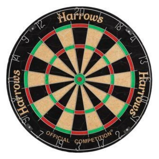 HARROWS OFFICIAL COMP DARTBOARD
