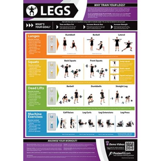 LEGS FITNESS CHARTS