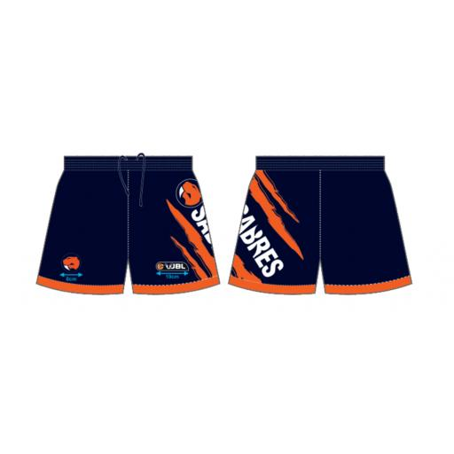 SABRES NAVY PLAYING SHORTS - INTRODUCTORY PRICE