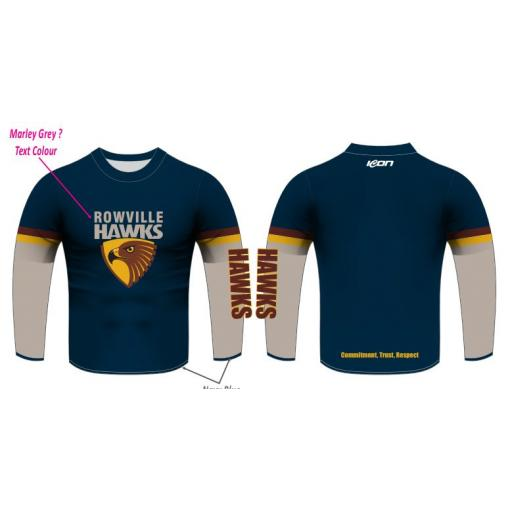 Rowville FNC long sleeve Supporters Tops