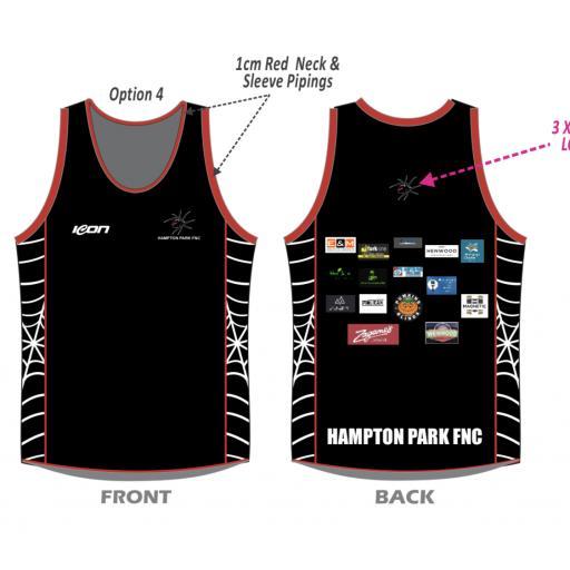 Hampton Park FNC Singlet Black